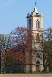Blick auf den Turm von Westen