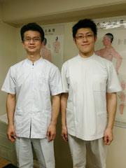辛悦氏と(於 国際中医学院)