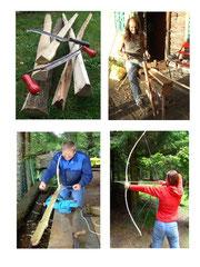 www.malraum.at Bogenbaukurse für Kinder und Erwachsene