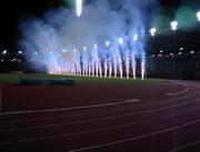 Stadion Linz  -  Vulkanwand zur Musikshow der Nationen