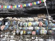 Mur de prières, Mustang, Népal