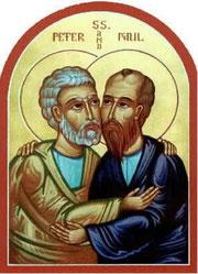 Pedro-san y Pablo-san sellando con un beso su pérfida alianza.