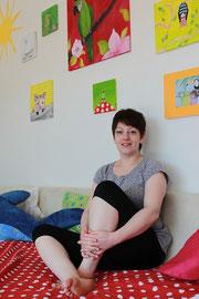 wischen Farben und Leinwänden fühlt sich Janina Kaufmann wohl.