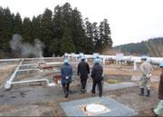 地熱発電の現場