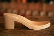 semelle bois talon large pour sabot suédois cuir et bois modèles femme