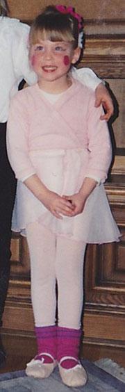 Denise als kleine Ballerina...