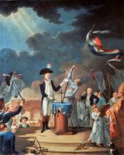 Serment de La Fayette à la Fête de la Fédération - 14 Juillet 1790.