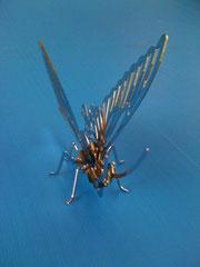 Schmetterling 3D aus Chromstahl elektropoliert