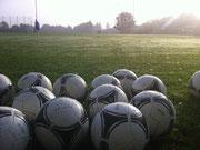 Blick auf den Fußballplatz
