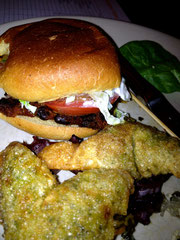 Black Bean Slider and Fried Ravioli