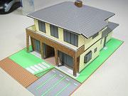 建築模型ペーパークラフト画像