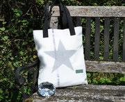 Tasche mit Stern, Sterntasche, Recyclingtasche, Airbag, Umhängetasche, Shopper