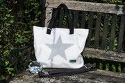 Handtasche mit Stern, Sterntasche, Recyclingtasche, Airbag, Umhängetasche, Shopper