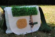 Umhängetasche Recyclingtasche, Airbag, Urlaubstasche, Deich, besondere Tasche