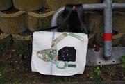 Umhängetasche Recyclingtasche, Airbag, besondere Tasche, Männertasche