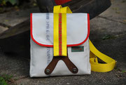 Recyclingtasche, Airbag, Umhängetasche, Rucksack, Brotzeit