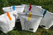 Rollbag, Blüte, Rolltasche, Sommertasche, Recyclingtasche, Airbag, Kosmetik