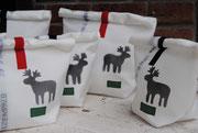Rollbag, Elch, Rolltasche, Weihnachtstasche, Recyclingtasche, Airbag, Kosmetik