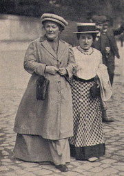 Clara Zetkin (li.) und Rosa Luxemburg (Lizenz: gemeinfrei)