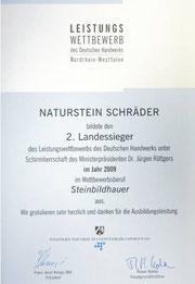 2. Landessieger 2009 / Zertifikat