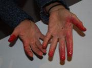Intensive rote Farbe