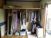 北九州市小倉北区 アパート クローゼット オープン収納