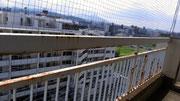 北九州市小倉北区 マンション ベランダ ハト除けネット 鳩 被害 対策