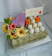 """Торт""""Яйца счастья""""."""