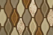 Brown glass and stone mosaic