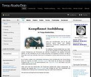 Screenshot der Webseite des Dojo