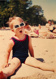 Me. In swimsuit. On beach.