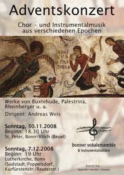 Konzertplakat Adventskonzert
