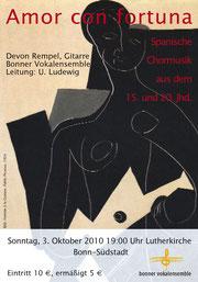 Konzertplakat Amor con Fortuna