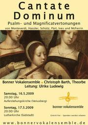 Konzertplakat Cantate Dominum