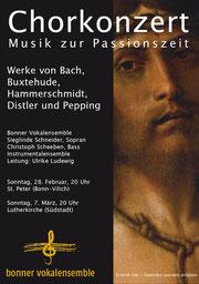 Konzertplakat Musik zur Passionszeit