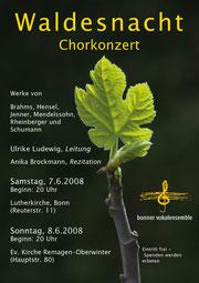 Konzertplakat Waldesnacht