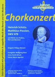 Konzertplakat Schütz, Matthäus-Passion