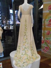 手描き友禅のウエディングドレス