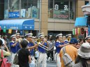 消防庁音楽隊によるパレード   @かっぱ橋道具まつり