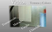 Vidrio transparente mateado y carglas mampara angular ducha