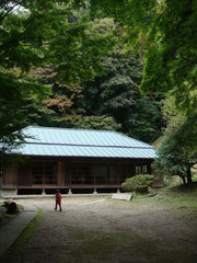蘆花記念公園の第一休憩所