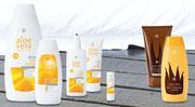 'aloé véra avec 40% d'aloé véra dans les crèmes solaire