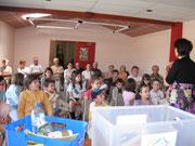 action intergénérationnelle avec le Club des Ainés de Taron