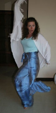Showing off my new Birthday Present- Traditional Thai wrap around trousers