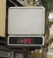 Am 11. September um 15:22 Uhr herrschten in Puerto de la Cruz 35 Grad.