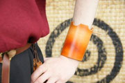 Short Armguard, Cuff, Leather, Hand-made