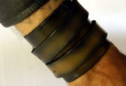 Double Wristband, Johnny Depp, Leather, Hand-made
