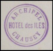 """Hotel des Iles Chausey"" cachet."