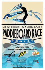 Sonni Hönscheid wins the Maui Paddleboard Race 2014
