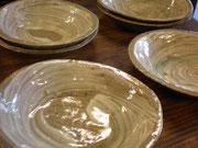刷毛目楕円鉢
